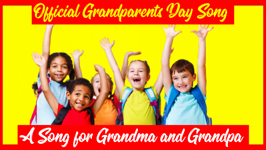 "The official song of National Grandparents Day is ""A Song for Grandma and Grandpa"" by Johnny Prill. The MP3 download includes sheet music and karaoke (backing) tracks. It is popular with school programs and is one of the best kids songs for honoring grandparents."